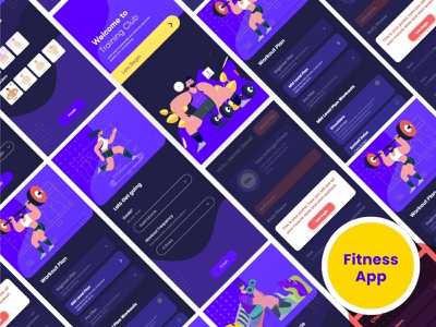 Fitness App web webdesign website sports design sports sport gymnastics gym flyer gym logo gym app gym bodymovin bodybuilding bodybuilder body fitness center fitness club fitness logo fitness app fitness