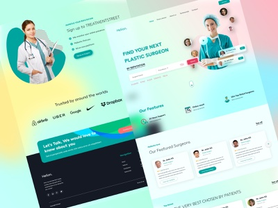 Healthcare Landing Page illustration website design 3D Art ui logo branding clean concept animation app ui medical app healthy healthcare doctor nurse health medical care medical typography ui illustration design website web