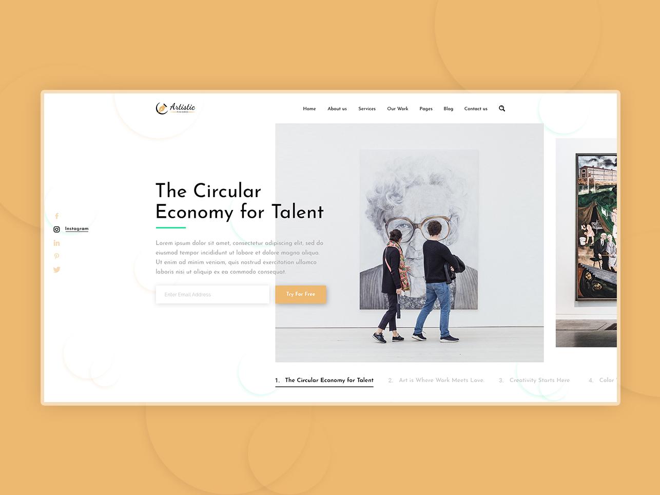 Artistic Slider ui designers web designers coreldraw adobe photoshop adobe illustrator adobe xd website design web design ui  ux ui design
