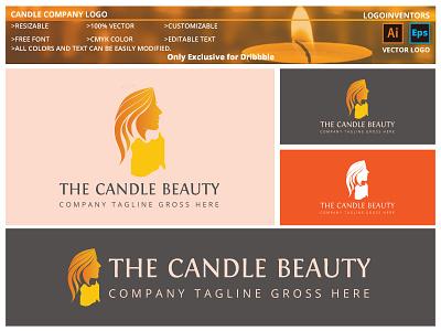 Candle Company Logo design vector logo christmas-logo-mark christmas-candlelight christian-logotype candlelight-party candlelight-dinner candlelight candle-light candle-branding candle burner