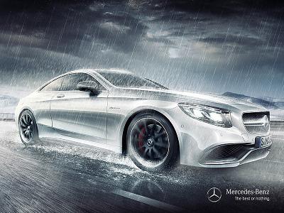 Benz   AMG CLA branding visual effects design ad