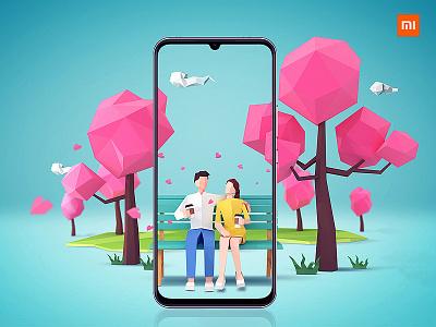 Mi 10 Youth Edition Phone(Reminiscence Season) branding visual effects 3d art graphic ad