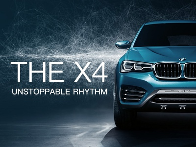 BMW X4(CONCEPT) branding visual effects h5 web ad graphic