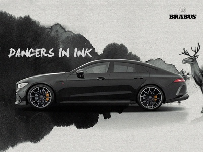 Brabus800   Dancers in ink global h5 visual effects branding graphic brabus800 auto ad