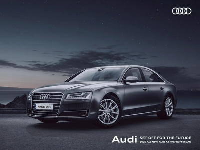 Audi A8 global audi auto branding visual effects graphic ad