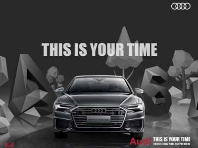 Audi A6L(This Is Your Time) graphic 3d art h5 ad visual effects web