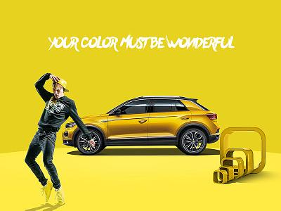 T-ROC(Colour) design ad graphic visual effects