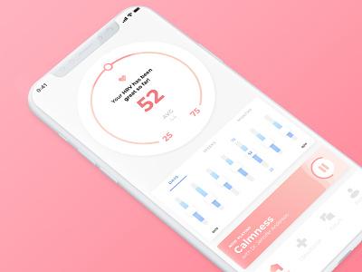 Lulla Homescreen UI user inteface ux user experience prototype user experience design user center design app ui minimal clean branding