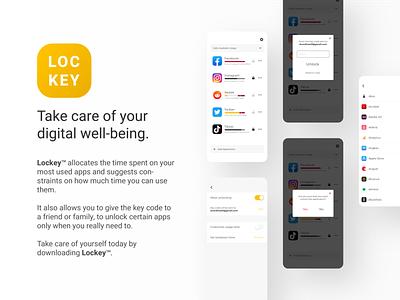 Lockey user inteface app user experience prototype user experience design user center design ui flat design minimal branding clean