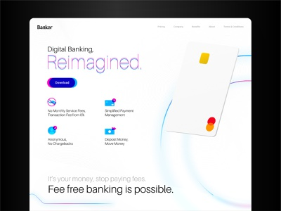 Bankor user inteface illustration web user experience design ui user center design design minimal branding clean