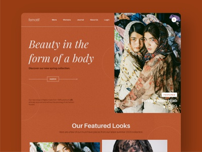 Femotif web user experience design user center design user inteface webdesign website ui design minimal branding clean