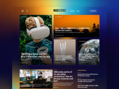 MADSCIENCE Quarterly magazine inspiration awwwards website design web design website web ux user inteface user center design user experience design ui design