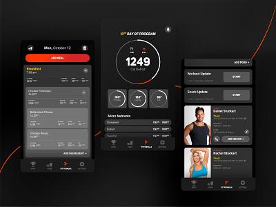 FitFormula web design minimal user experience design user center design ui user inteface user interaction mobile design mobile app design mobile app mobile ui application app design
