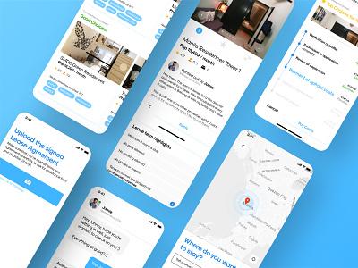 RentRabbit user interface design branding user center design user experience prototype user inteface user experience design ui clean