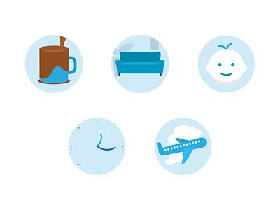 Company Perks (Illustrations) icon vector minimal illustration design clean flat branding