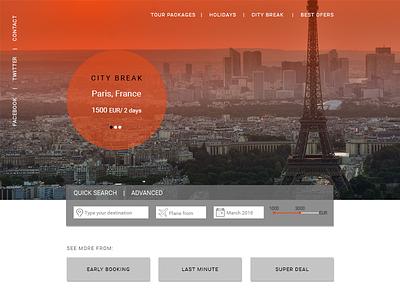 Travel Booking Landing Page tourism elegant material design landing page travel