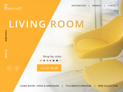Category page for furniture store