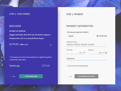 Payment Form material design indigo payments ui form