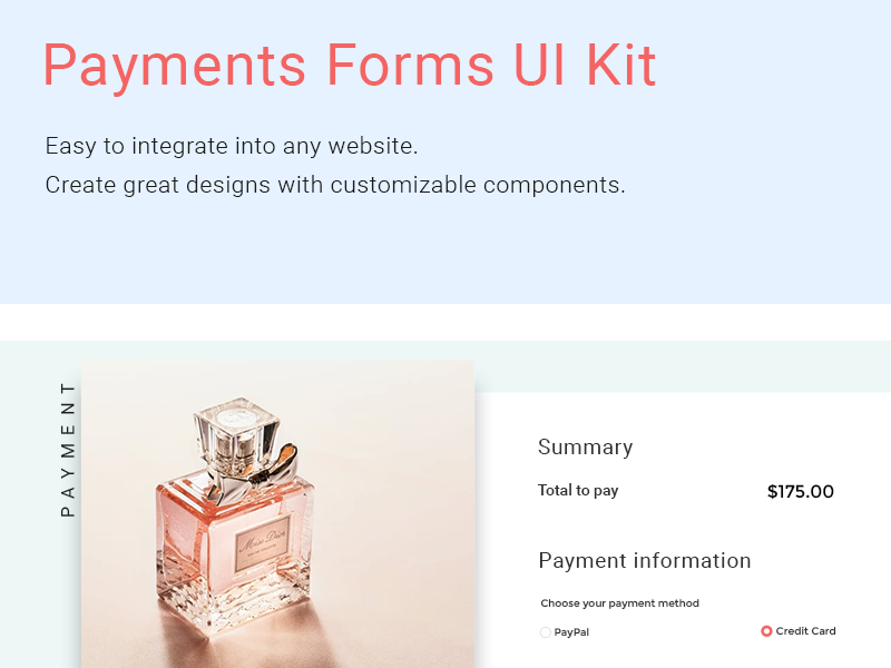 Payments Forms UI Kit forms fresh ui payments
