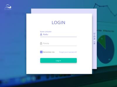 Login Elysian material design teal indigo time management software app time tracking app app dashboard sign in login