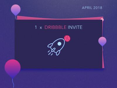 Invite purple dribbble invite invite