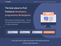 Landing page for jobs platform