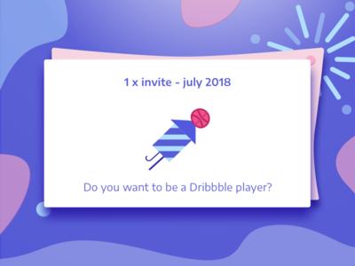 Dribbble Invite July invite fireworks dribbble invite purple may dribbble dark illustration