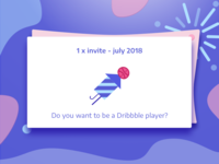 Dribbble Invite July