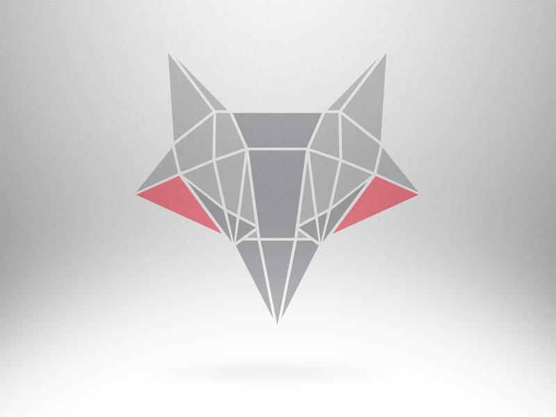 Fox Logo logo brand identity fox branding facets crystals