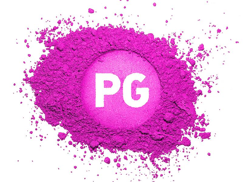 Profiling Glam logo branding makeup pg powder identity magenta