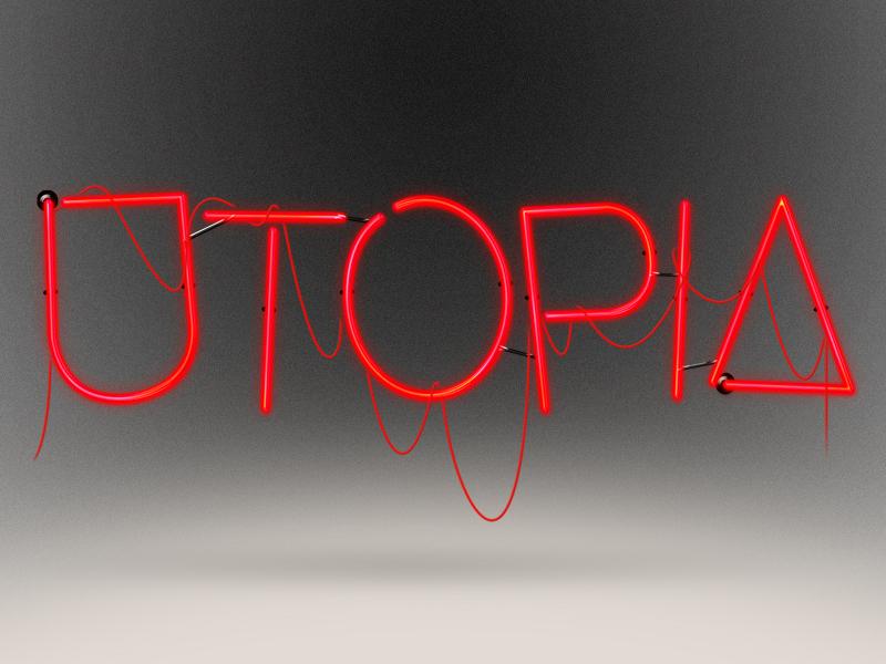Utopia  typography neon