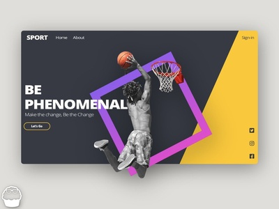 Sports Inspirational Website Design Template
