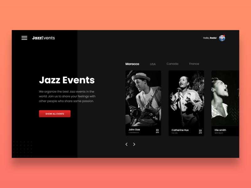 Jazz Events Website