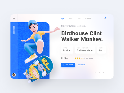 Deckshops - Dashboard Design website web design ui ux dashboard design dashboard ui dashboard skateboard skate 3d design blender landing page illustration design ui 3d illustration 3d ui design 3d