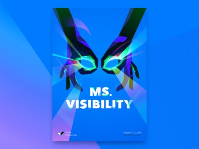 Ms. Visibility illustration vector hands superpower superhero collaboration event conference wrike poster brand identity design