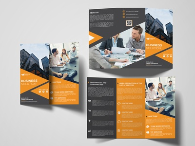 new modern corporate tri-fold brochure design