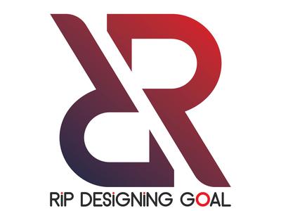 R letter logo design for RIP DESIGNING GOAL