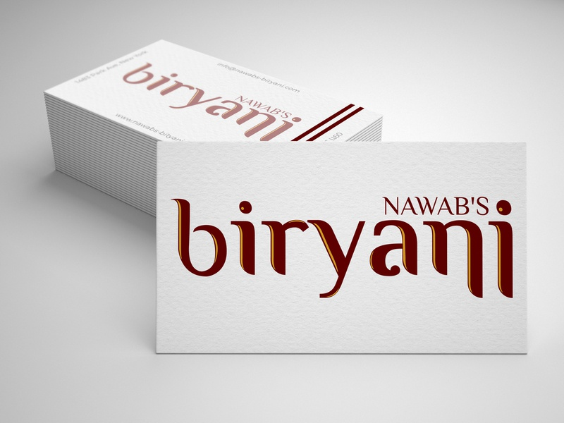 logo for NAWAB'S biryani design vector commercial briyani logo ui illustrator identity business card new concept logo typography new collection photoshop modern creative simple graphic design corporate clean branding