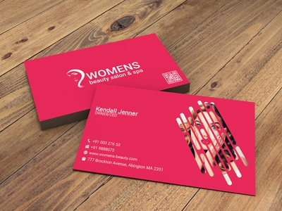 Salon, Spa @ all beauty experts company business card design