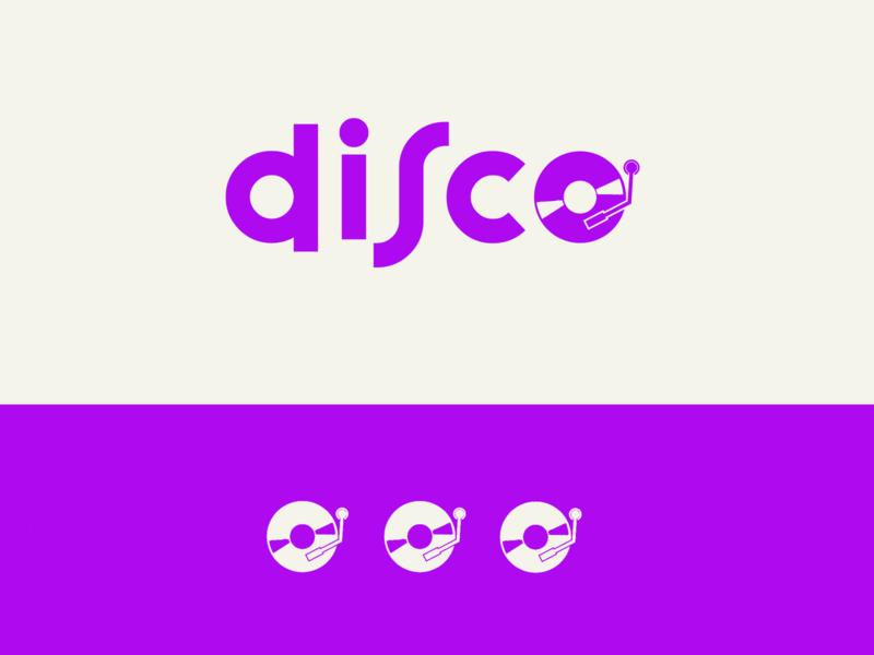 Music Logo - Disco logo minimal minimalist logo branding music art music music logo