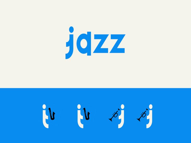 Music Logo - Jazz typography minimalist logo minimal logo branding music art music logo