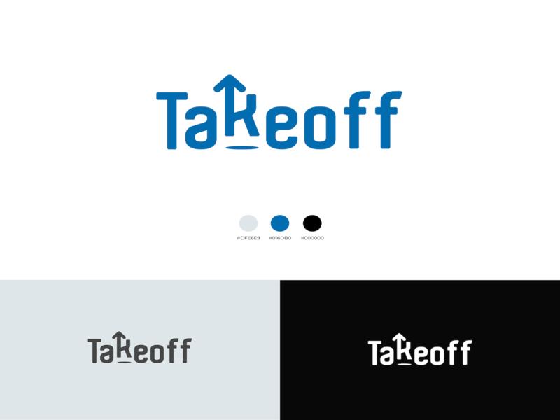 Takeoff Logo design branding minimal minimalist logo logo takeoff