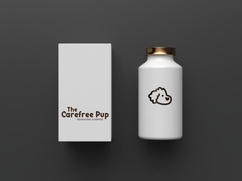 Dog supplies - Premium shampoo bottle mockups bottle label bottle design bottle logo branding minimal minimalist logo dog icon dog illustration dog art dog dog logo