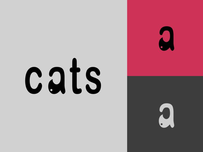 Cat Logo logo minimalist logo minimal cat logo animal cats cat