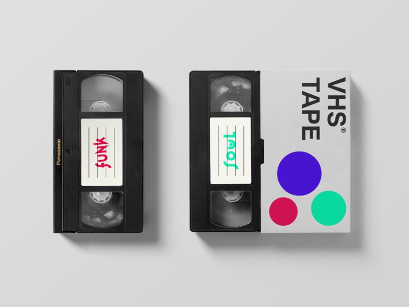 VHS Tape - Funk & Soul vhs logo minimal minimalist logo music logo music art branding soul funk