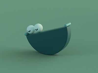 Sloth cinema 4d 3d animation motion design animated loop