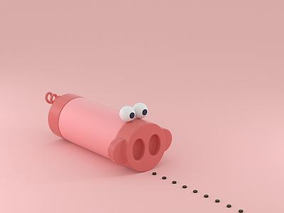Gluttony cinema 4d 3d animation motion design animated loop