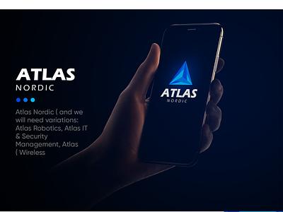 atlas a letter logo atlas xi ux technology icon logos business branding logo brand vector illistration design