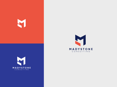 Madystone consulting technology modern logo business logos branding logo brand vector illistration design