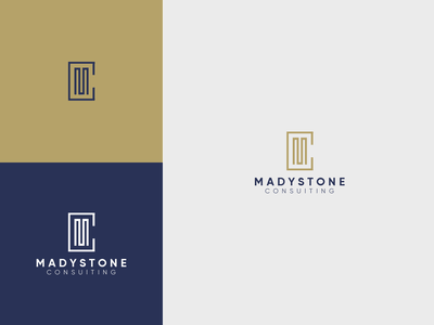Madystone consulting modern logo technology business logos branding logo brand vector illistration design